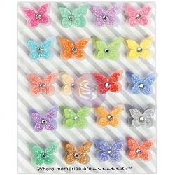 Prima - Planner Flowers - Coloreful Flight glitter & vellum butterflies