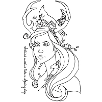 Prima - Cling Mounted Rubber Stamp - by Jamie Dougherty - Bloom Peyton