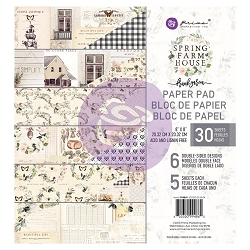 Prima - Spring Farmhouse Collection - 8x8 Paper Pad