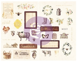 Prima - Spring Farmhouse Collection - Chipboard Stickers