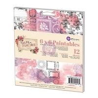 Prima - Tales of You & Me Collection - 6x6 Paintable Pad