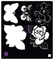Prima - Tales of You & Me Collection - 6x6 Stencil: Tales of you & Me Flowers & Butterfly