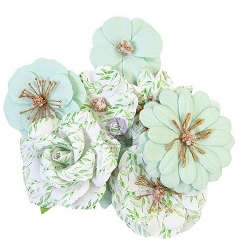 Prima - Watercolor Floral Collection Flowers - Minty Water