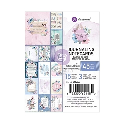 Prima - Watercolor Floral Collection - 3x4 Journaling Cards