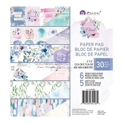 Prima - Watercolor Floral Collection - 6x6 Paper Pad