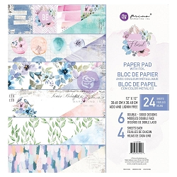 Prima - Watercolor Floral Collection - 12x12 Paper Pad