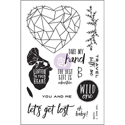 Prima - Wild & Free Collection - 4x6 Cling Stamp set