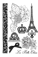 Prima - En Francais - Cling Mounted Stamp Set :)