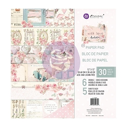 Prima - With Love Collection 12x12 Paper Pad