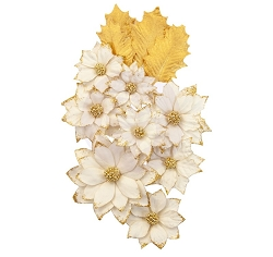 Prima - Christmas In The Country Collection Flowers - White Christmas