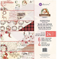 Prima - Christmas In The Country Collection - 12x12 Paper Pad