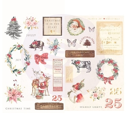 Prima - Christmas In The Country Collection - Chipboard Stickers
