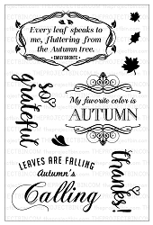 The Project Bin - Clear Stamp - Autumn's Calling