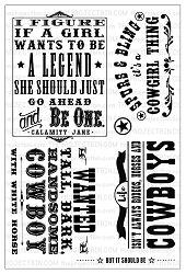 The Project Bin - Clear Stamp - Cowgirl Up!