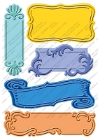 Cuttlebug Embossing Folder PLUS - Fanciful Labels