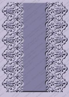 Provo Craft Cuttlebug Embossing Folder - Scalloped Edge Lace (A7 size)