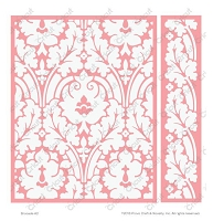 Cuttlebug Embossing Folder / Border Set - by Anna Griffin - A2 - Brocade