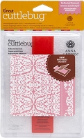 Cuttlebug Embossing Folder / Border Set - by Anna Griffin - A2 - Reflected Damask