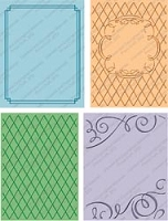 Provo Craft Cuttlebug Embossing Folder Bundle - Wedding (Two A2 size + two A7 size)