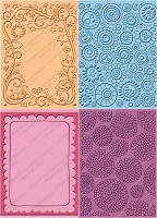 Provo Craft Cuttlebug Embossing Folder Bundle - Spring (Two A2 size + two A7 size)