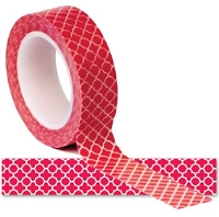 Queen & Co. - Trendy Tape - Quatrefoil Red
