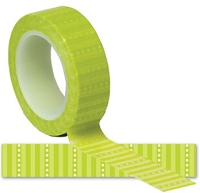 Queen & Co. - Trendy Tape - Green Stripe