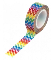 Queen & Co. - Trendy Tape - Rainbow Chevron