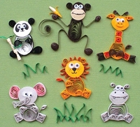 Quilled Creations - Quilling Kit - Jungle Buddies
