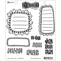 Dylusions - Cling Rubber Stamps - Don't, Won't, Can't
