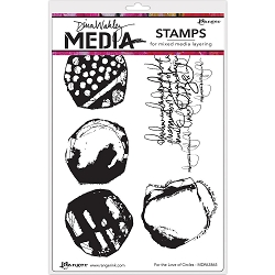 Stamper's Anonymous/Ranger - Dina Wakley Media - Cling Mounted Rubber Stamp Set - For The Love Of Circles