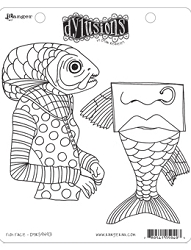 Dylusions - Cling Rubber Stamps - Fish Face  :)