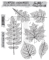 Stamper's Anonymous / Tim Holtz - Cling Mounted Rubber Stamp Set - Pressed Foliage