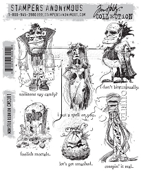 Stamper's Anonymous / Tim Holtz - Cling Mounted Rubber Stamp Set - Monster Reunion