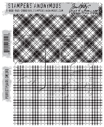 Stamper's Anonymous / Tim Holtz - Cling Mounted Rubber Stamp Set - Perfect Plaid