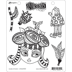Dylusions - Cling Rubber Stamps - Crown Of Roses