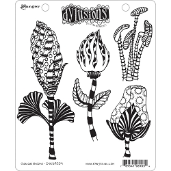 Dylusions - Cling Rubber Stamps - Glorious Blooms