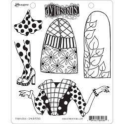 Dylusions - Cling Rubber Stamps - Paper Doll