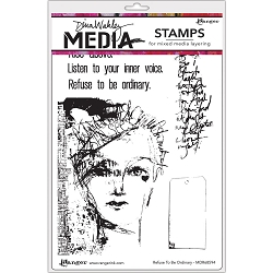 Ranger - Dina Wakley Media - Refuse To Be Ordinary Cling Mounted Rubber Stamp Set