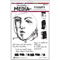 Ranger - Dina Wakley Media - Stronger Cling Mounted Rubber Stamp Set