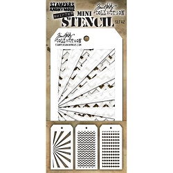 Stamper's Anonymous / Tim Holtz - Mini Layering Stencils - Set #42