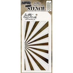 Stamper's Anonymous / Tim Holtz - Layering Stencil - Shifter Rays