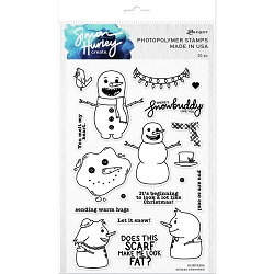 Ranger - Simon Hurley Clear Stamp - Snazzy Snowmen