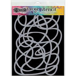 Ranger - Dyan Reaveley's Dylusions Stencil - Squiggle (Large 9