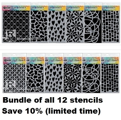 Ranger - Dyan Reaveley's Dylusions Stencil - Bundle of all 12 new stencils (save 10%)