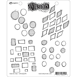 Dylusions - Cling Rubber Stamps - Four By Four