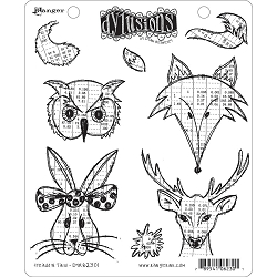 Dylusions - Cling Rubber Stamps - Heads N Tails