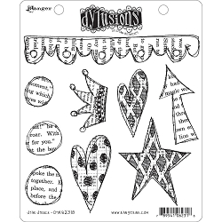 Dylusions - Cling Rubber Stamps - Star Struck