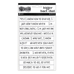 Dylusions - Bigger Back Chat Stickers White