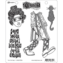 Dylusions - Cling Rubber Stamps - The Cat & I