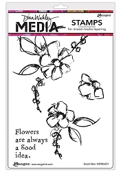 Ranger - Dina Wakley Media - Cling Mounted Rubber Stamp Set - Good Idea